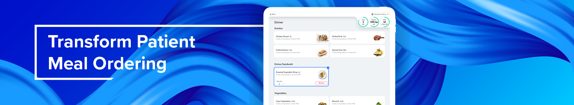 Transform Patient Meal Ordering